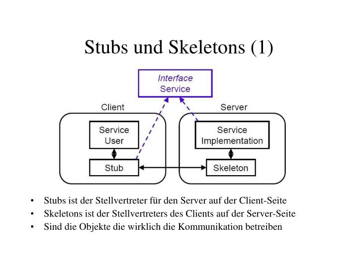 Stubs und Skeletons (1)