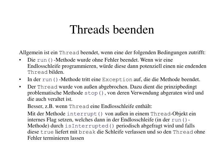 Threads beenden