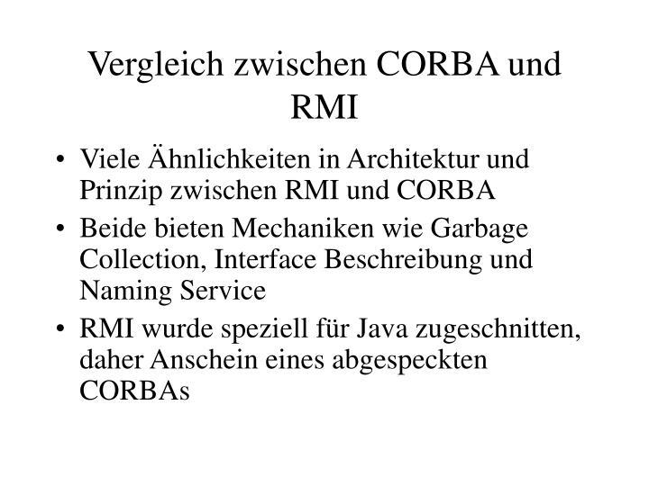 Vergleich zwischen CORBA und RMI