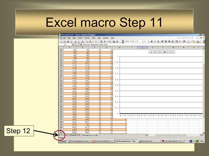 Excel macro Step 11