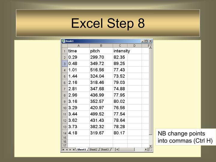 Excel Step 8
