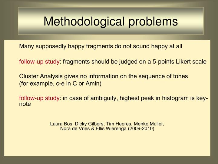 Methodological problems