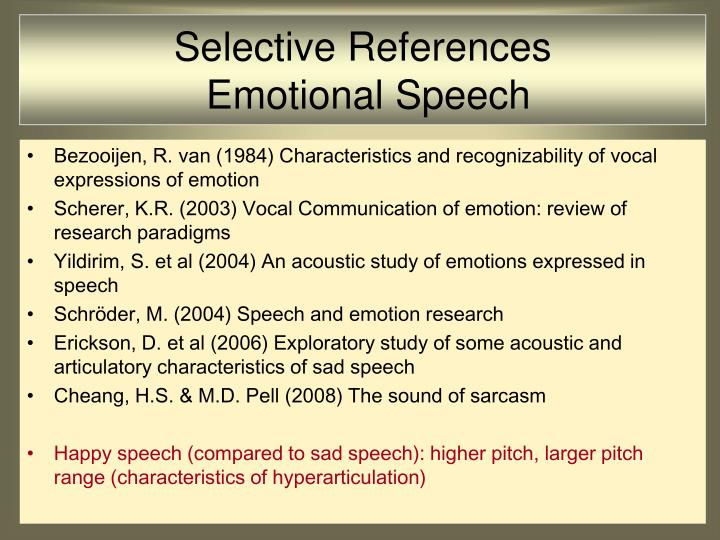 Selective References