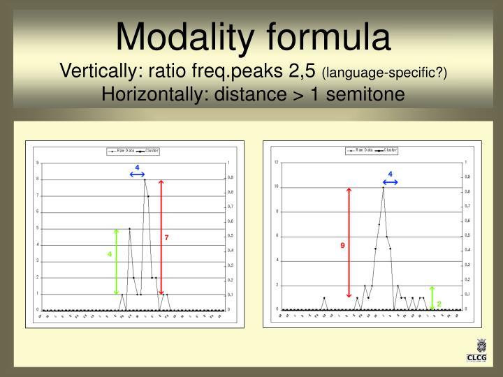 Modality formula