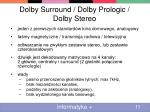 dolby surround dolby prologic dolby stereo