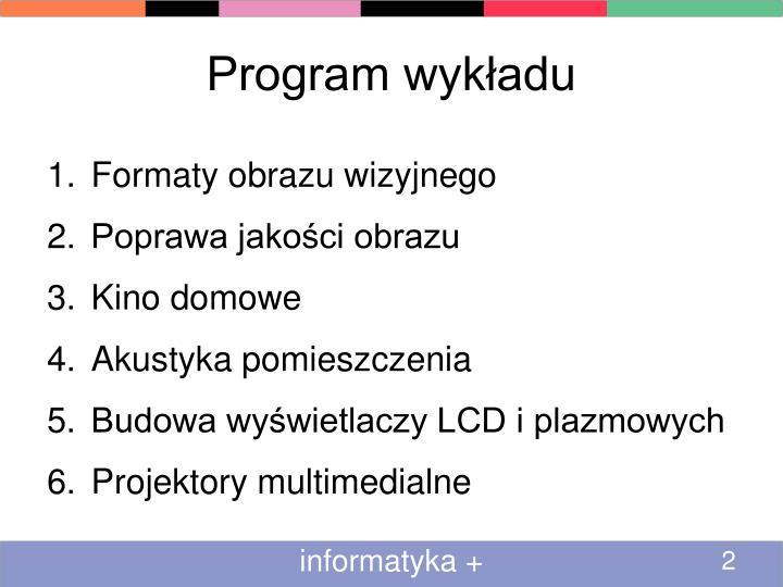 Program wykładu