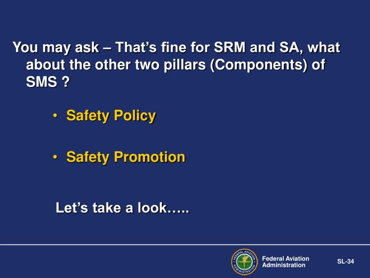 You may ask – That's fine for SRM and SA, what about the other two pillars (Components) of SMS ?