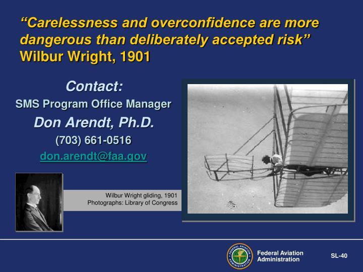 Wilbur Wright gliding, 1901