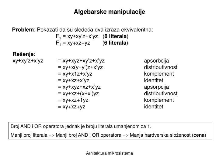 Algebarske manipulacije
