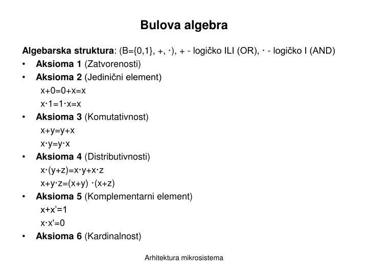 Bulova algebra