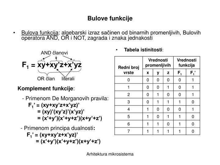 Bulova funkcija