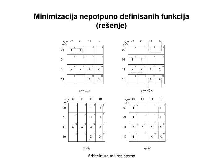 Minimizacija nepotpuno definisanih funkcija