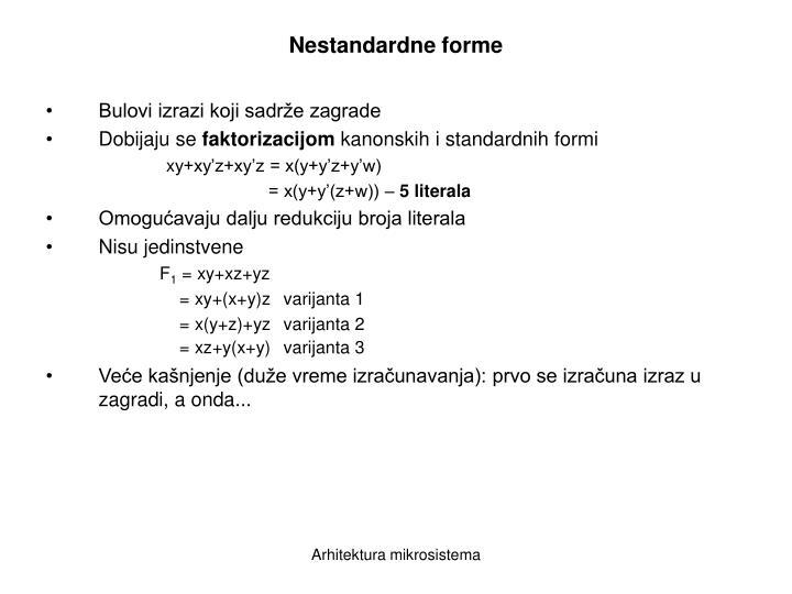 Nestandardne forme