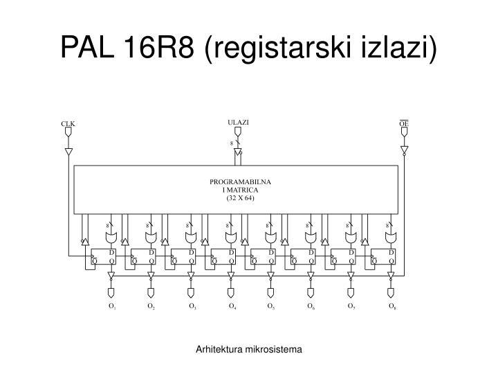 PAL 16R8 (registarski izlazi)