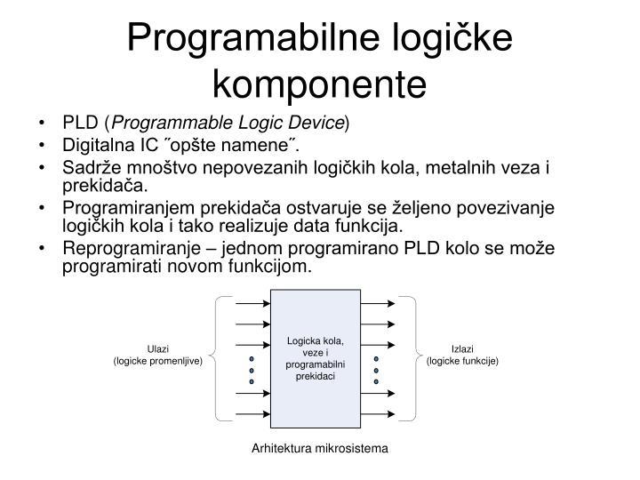Programabilne logičke komponente