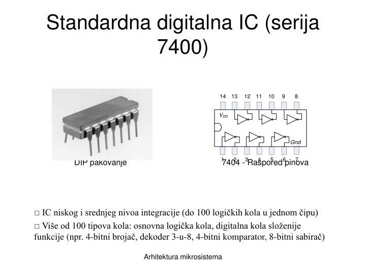 Standardna digitalna IC (serija 7400)