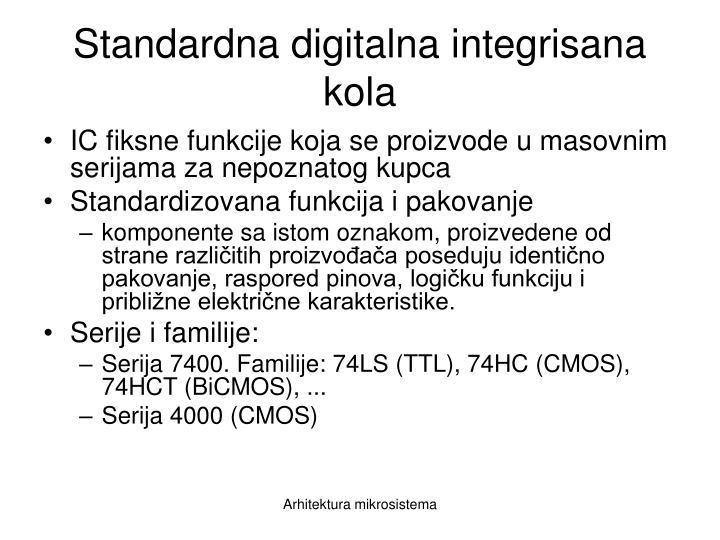 Standardna digitalna integrisana kola
