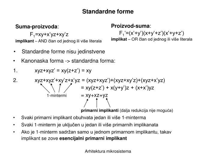 Standardne forme