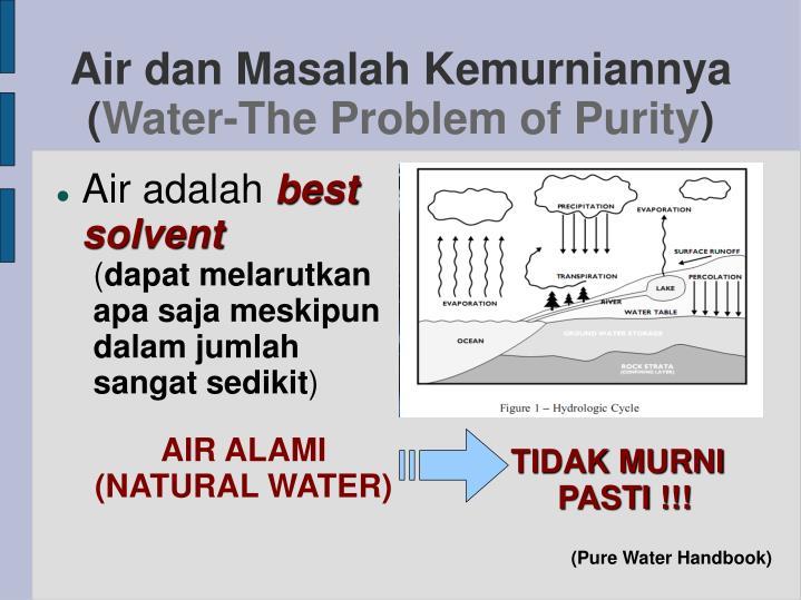 Air dan Masalah Kemurniannya