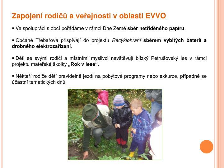 Zapojení rodičů a veřejnosti v oblasti EVVO