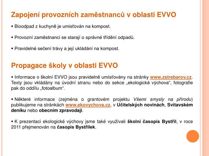 Zapojení provozních zaměstnanců v oblasti EVVO