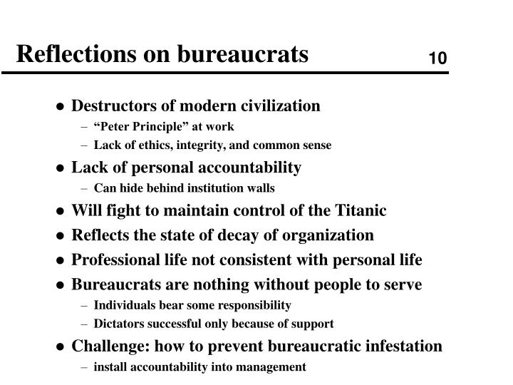 Reflections on bureaucrats