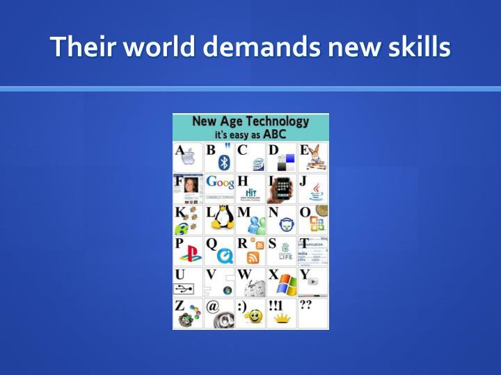 Their world demands new skills