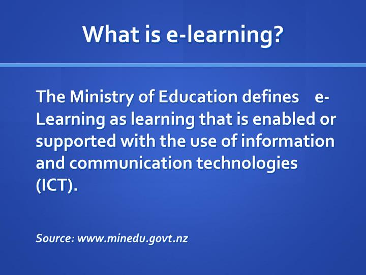 What is e learning