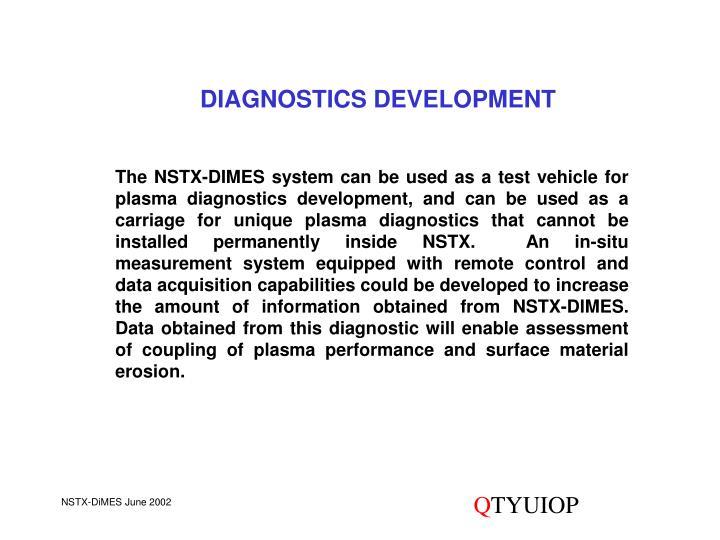 DIAGNOSTICS DEVELOPMENT