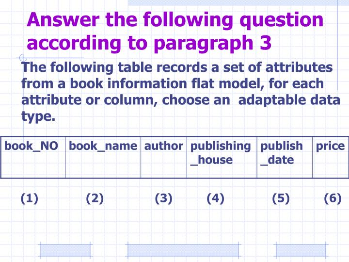Answer the following question according to paragraph 3