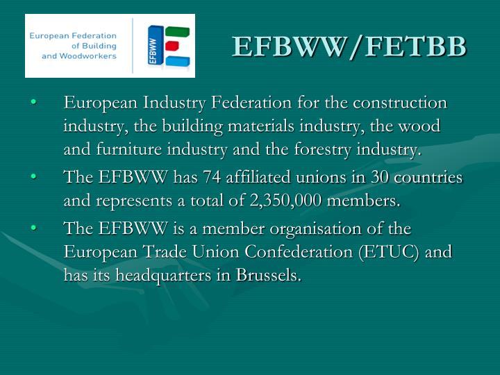 EFBWW/FETBB