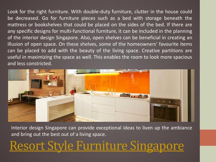 Resort Style Furniture Singapore