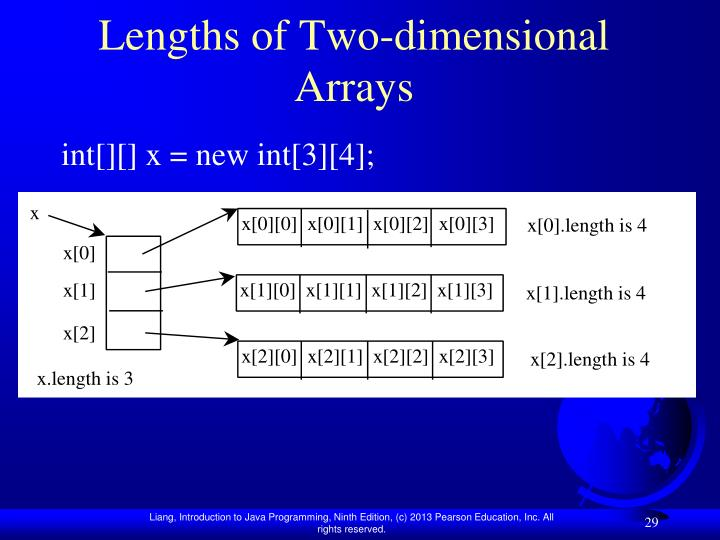 Lengths of Two-dimensional Arrays