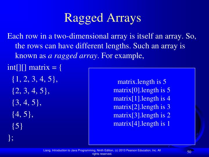 Ragged Arrays