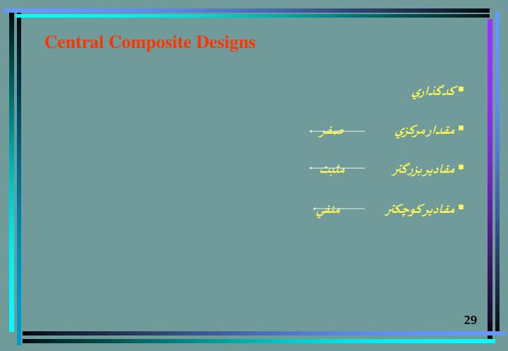 Central Composite Designs