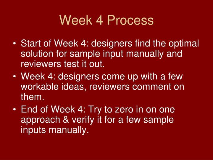 Week 4 Process