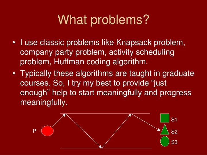 What problems?