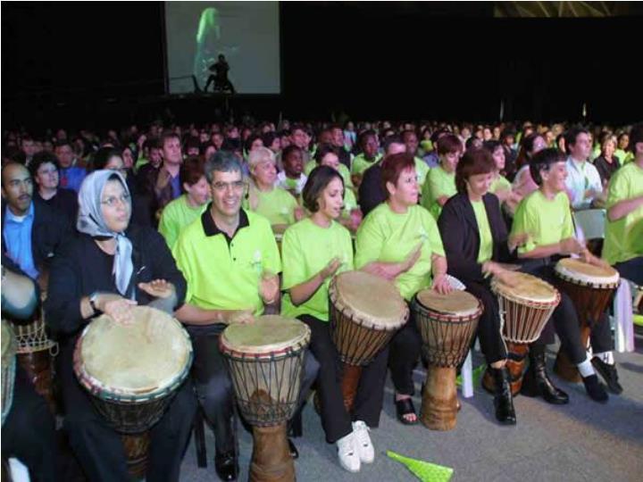 One drum per delegate