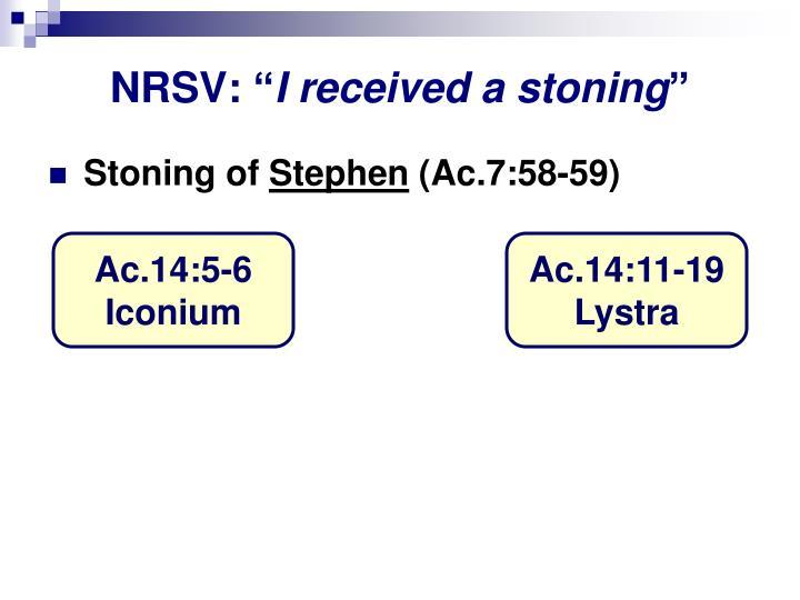 """NRSV: """""""