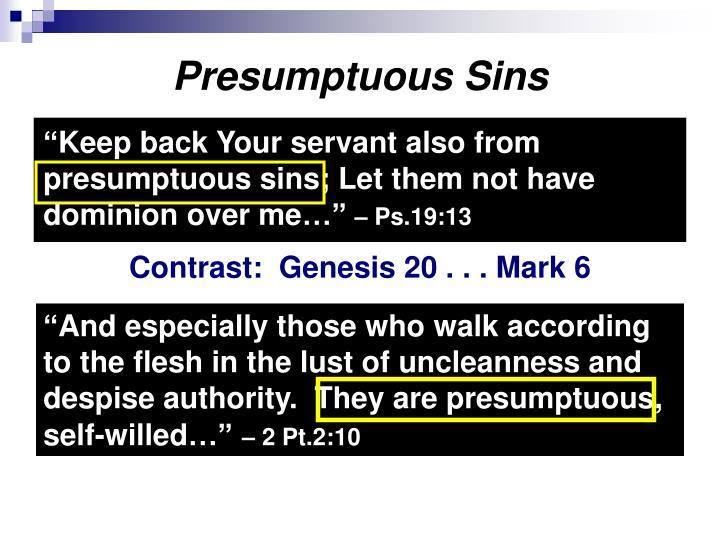 Presumptuous Sins
