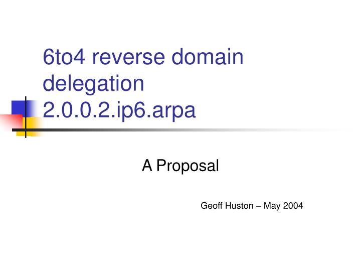 6to4 reverse domain delegation 2 0 0 2 ip6 arpa