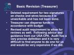 basic revision treasurer