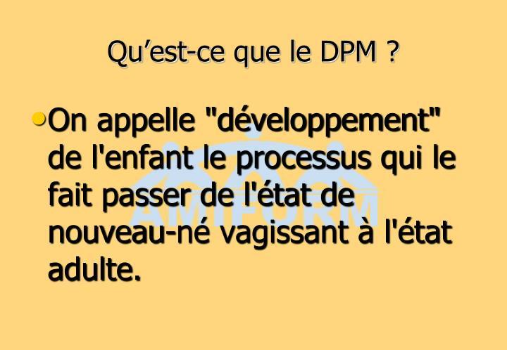 Qu'est-ce que le DPM ?