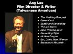 ang lee film director writer taiwanese american