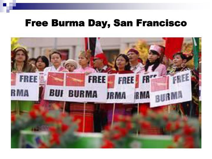 Free Burma Day, San Francisco