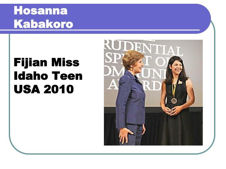 Hosanna Kabakoro