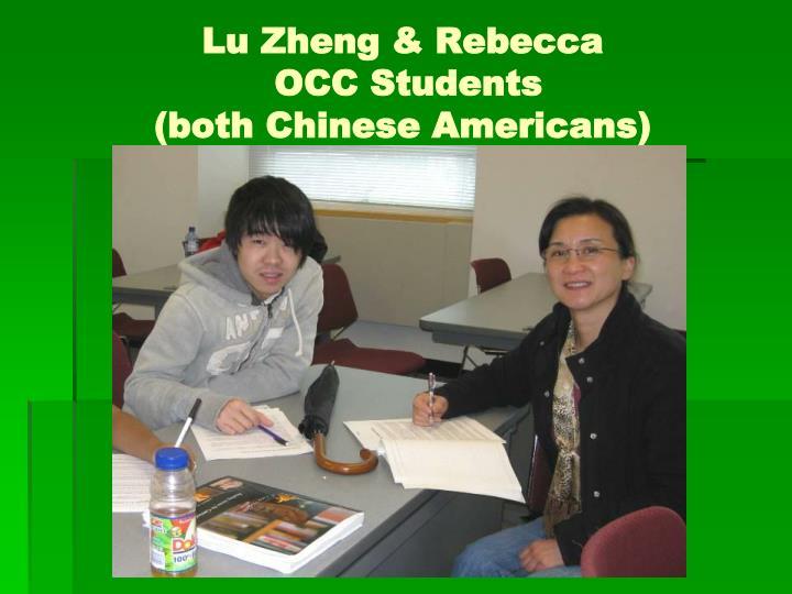 Lu Zheng & Rebecca