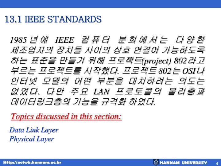 13.1 IEEE STANDARDS