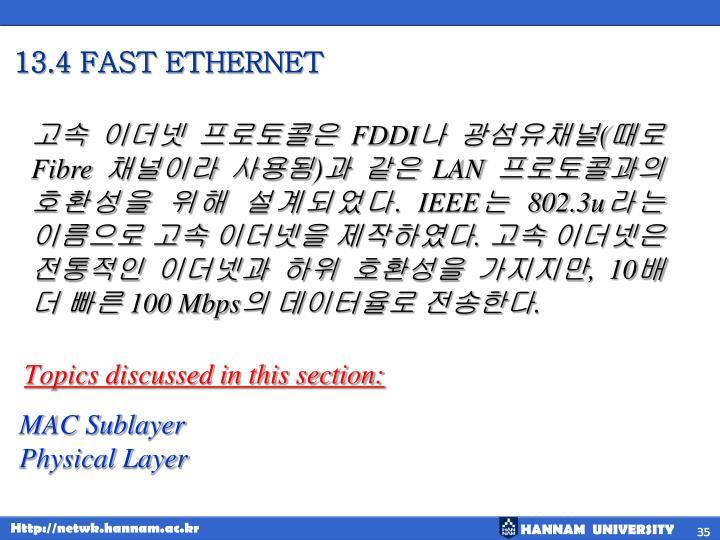 13.4 FAST ETHERNET
