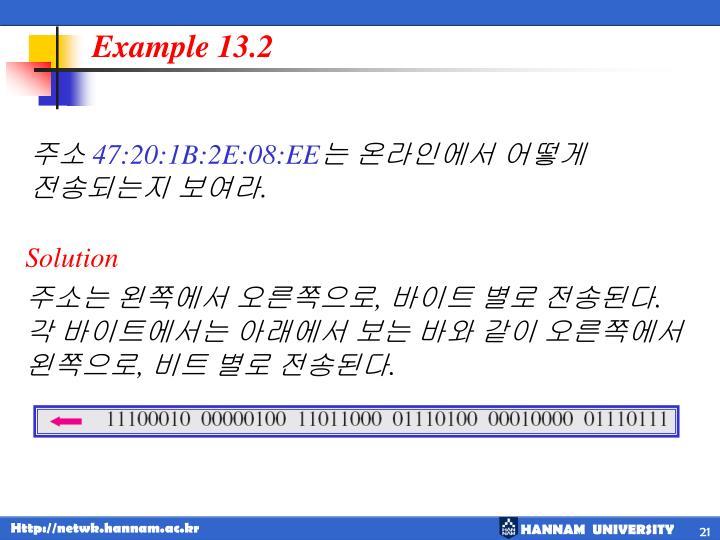 Example 13.2